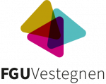 FGU loge - tre farvede trekanter der hænger sammen - med tilhørende tekst